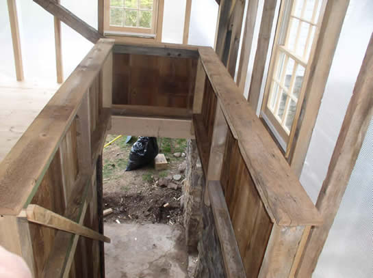 how to build half octagon stairs